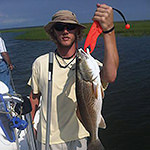 Photo of angler using The Fish Grip.